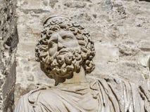 beared的罗马胸象 库存图片