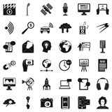 Bearer media icons set, simple style. Bearer media icons set. Simple set of 36 bearer media vector icons for web isolated on white background Stock Images