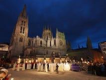 Bearers in the Semana Santa Procession in Burgos Stock Photos