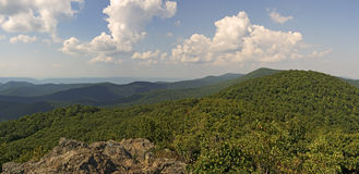 Bearfence Viewpoint Panorama, Shenandoah National Park Royalty Free Stock Image