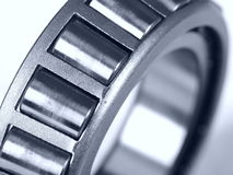 Bearing. Close up of a ball bearing on white background Royalty Free Stock Photos