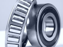 Bearing. Close up of a ball bearing on white background Stock Photo