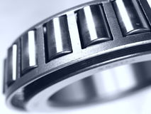 Bearing. Close up of a ball bearing on white background Royalty Free Stock Images