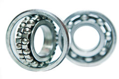 Bearing. The metal ball bearing on a white background Royalty Free Stock Images
