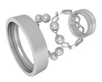 Bearing # 5. Three-dimensional model - the bearing taken to pieces Royalty Free Stock Image