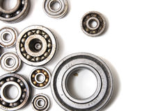 Bearing. Steel bearing background on the white background Stock Photos