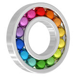 Bearing with colorful balls. Isolated on white background. High resolution 3D image Royalty Free Stock Photos
