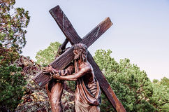 Bearing the Cross Stock Images