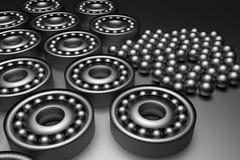 Bearing. 3d rendering of a steel bearing Stock Image