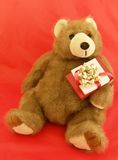Bearing Gifts. Teddy bear with presents for Christmas or Valentine's Day Royalty Free Stock Images