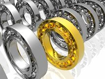 Bearing, Golden Leader Royalty Free Stock Photos