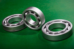 Bearing on green Stock Image