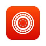Bearing icon digital red. For any design isolated on white vector illustration Stock Photo