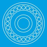 Bearing icon, outline style Stock Photography