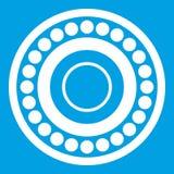 Bearing icon white. Isolated on blue background vector illustration Royalty Free Stock Photos