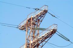 Bearing  power lines Stock Image