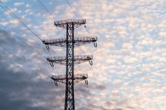 Bearing  power lines Stock Images