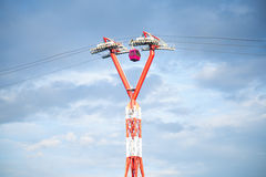 A bearing of the ropeway Stock Photos