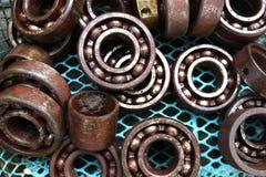 Bearing rust. Close up Bearing rust background stock photos