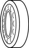 The Bearing. Simple radial bearing isometric view Stock Image