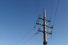 Bearing, transmission lines, Royalty Free Stock Photo