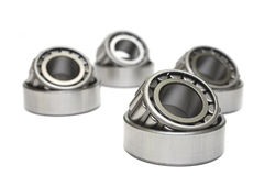 Bearings. Roller bearings isolated on white stock image