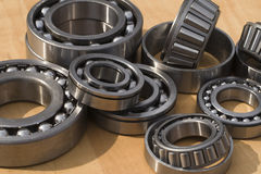 Bearings. A lot of different bearings Stock Photos