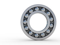 Bearings. Highly polished steel bearings reflecting sky and clouds Royalty Free Stock Images
