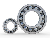 Bearings. Highly polished steel bearings reflecting sky and clouds Stock Images