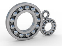 Bearings. Highly polished steel bearings reflecting sky and clouds Royalty Free Stock Image