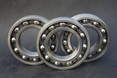 Bearings. New industrial bearings on dark background Stock Photography
