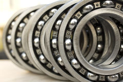 Bearings. New industrial bearings on dark background Royalty Free Stock Photos