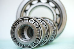 Bearings. Industrial bearings isolated on white Stock Photo