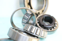 Bearings. Close up of industrial bearing Stock Images