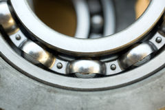 Bearings. Close up of industrial bearing Royalty Free Stock Image
