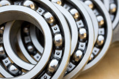 Bearings. Close up of industrial bearing Stock Photos