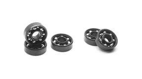 Bearings. Black bearings isolated on white royalty free stock photography