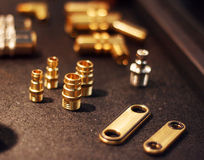 Bearings, bolts, screws and tools Royalty Free Stock Photo