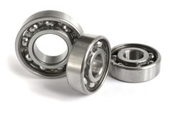 Bearings. Close-up bearings on the white background stock image
