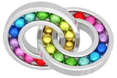 Bearings with colorful balls Royalty Free Stock Photo