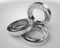 Bearings 3d on white background Stock Photo