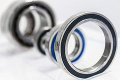 Bearings are different size machines for the Metalworking. Industry stock photos