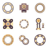 Bearings flat color icons Royalty Free Stock Photo