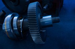 Bearings and gears in the transmission Stock Photography