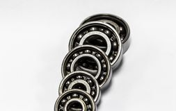 Bearings. Group of bearings on white background royalty free stock photo