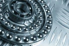 Bearings in metallic blue stock photo