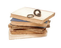 Bearings on pile books Stock Photos