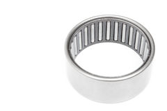 Bearings and rollers. Located on a white background variety of bearings and rollers wide range of applications, from automotive hub to engine belt tensioners royalty free stock photos