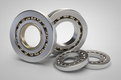 Bearings on white background. 3d model render Royalty Free Stock Images