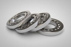 Bearings on white background Royalty Free Stock Photo
